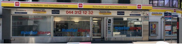 Showroom des 24h Schlüsseldienst Winkel in Zürich Front